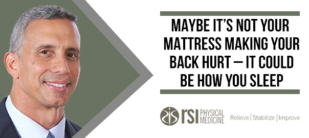 Back Pain Not Caused by Your Mattress